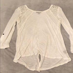 Verve Amí white mid sleeve dress shirt